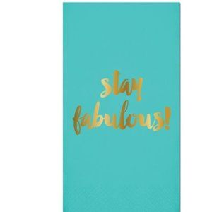NEW Pack Paper 16ct Foil GUEST TOWELS - STAY FAB